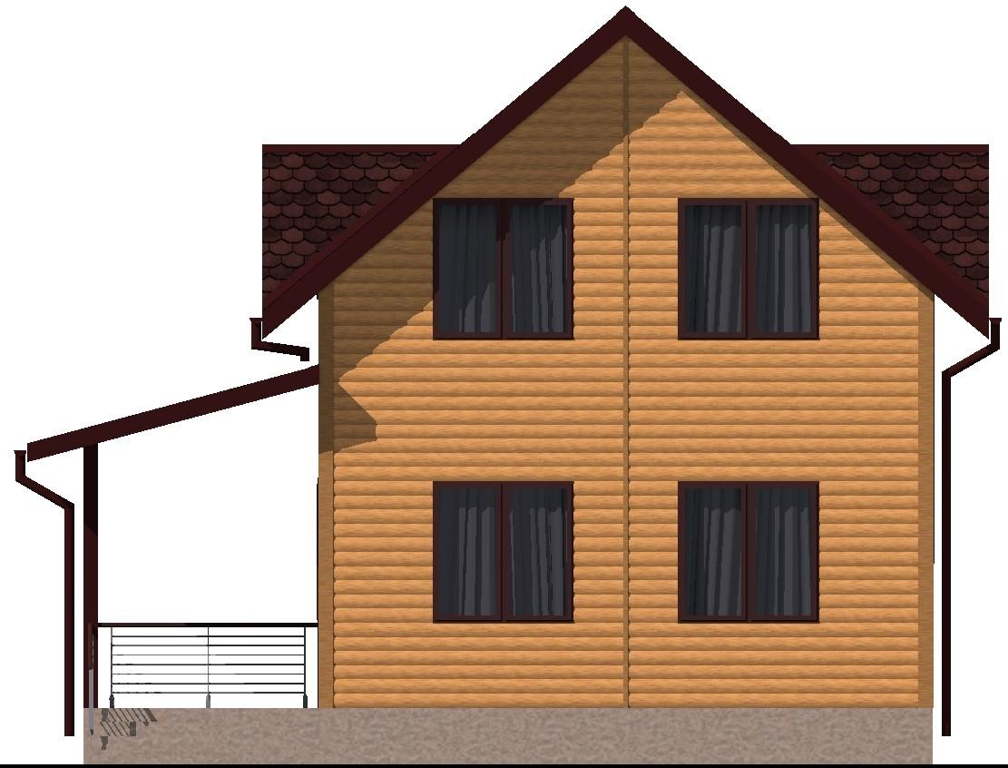 ТАГОР B-025. Проект небольшого мансардного дома с террасой