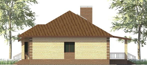 Титан D-007. Проект одноэтажного дома с гаражом, террасой, на три спальни