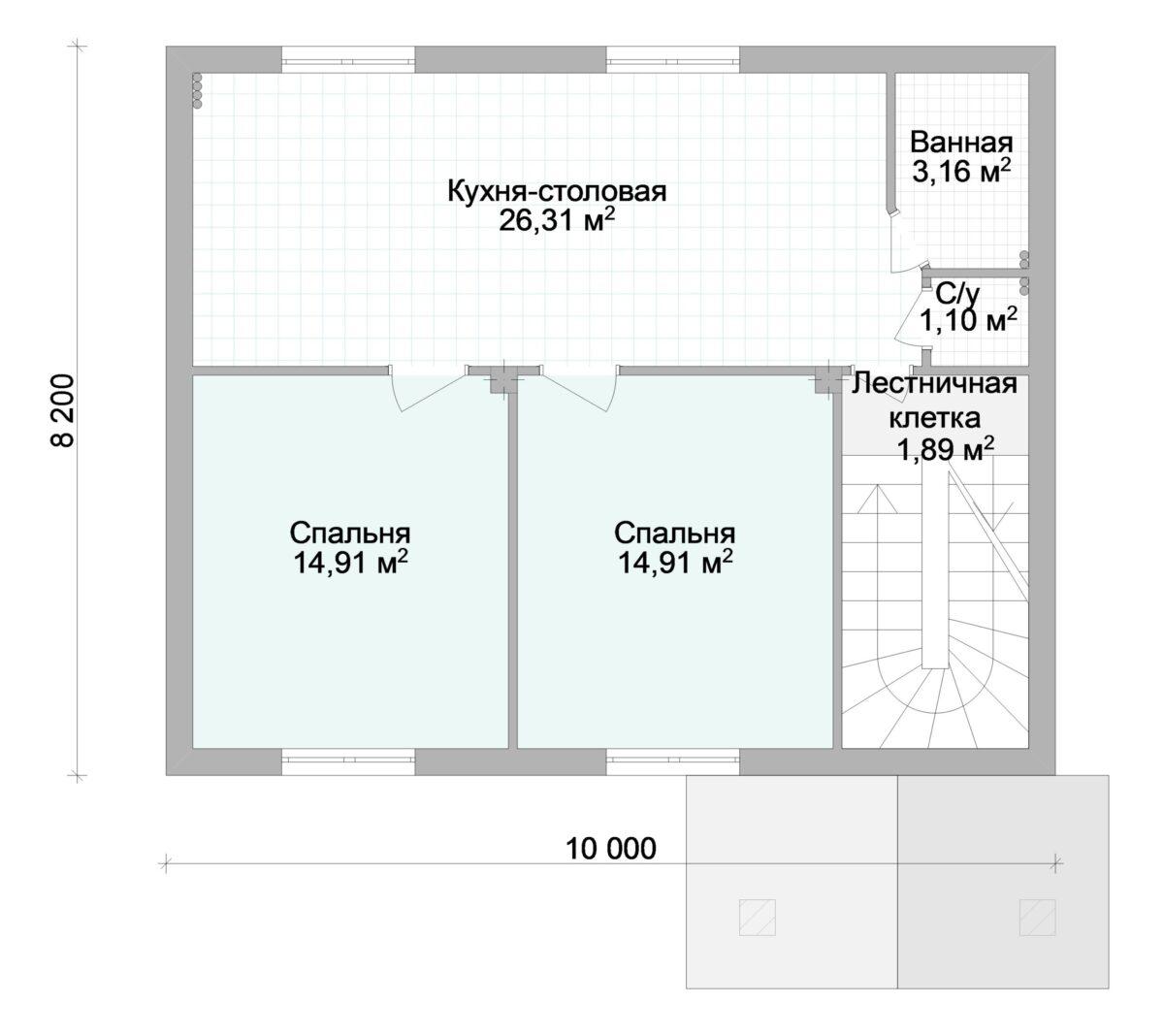 Уайт холл B-283. Проект дома на две семьи или коттеджа под гостиницу