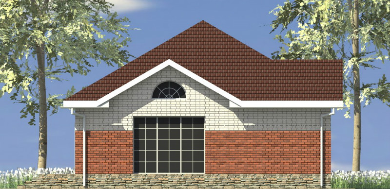 Вермут B-061. Проект одноэтажного дома с кабинетом