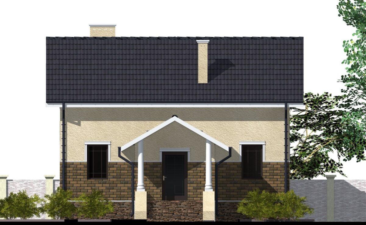 Винсент B-035. Проект мансардного дома с двумя спальнями