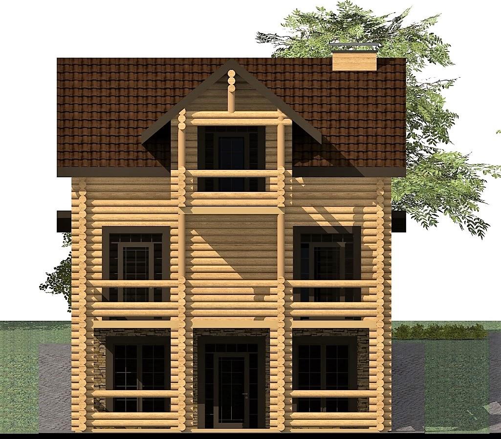 Wood haus C-251 с видеообзором. Проект современного дома из бруса 9 х 12 м для нестандартного участка