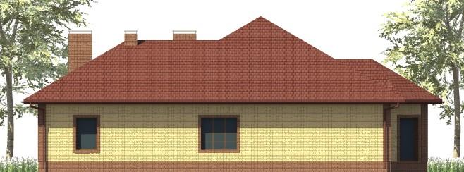 Жемчужина D-128. Одноэтажный дом с баней