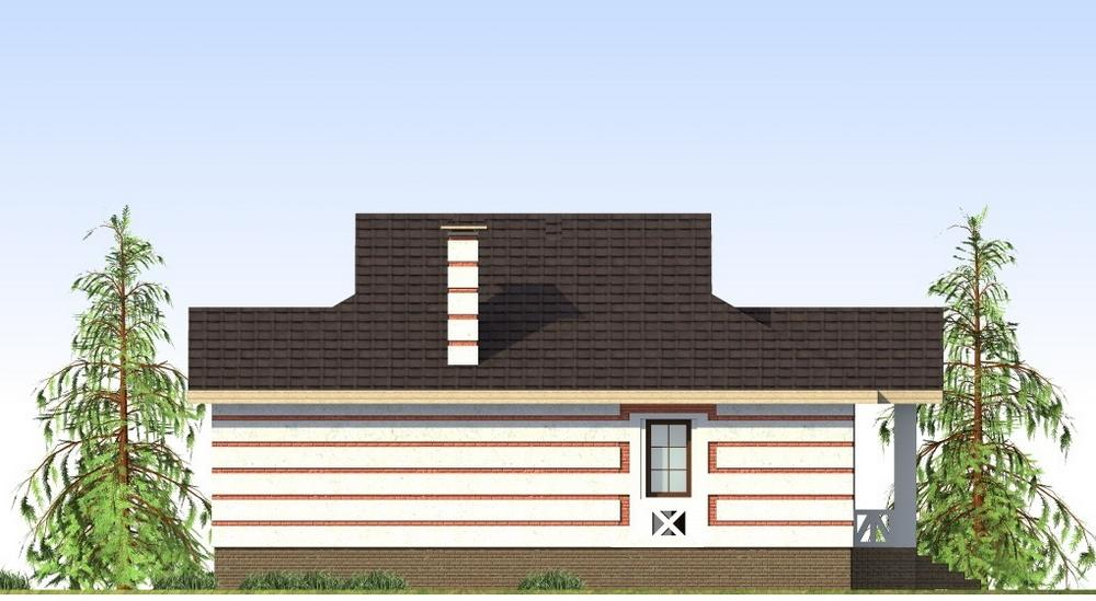 АДЖЕМ A-056. Проект одноэтажного дома на 2 спальни