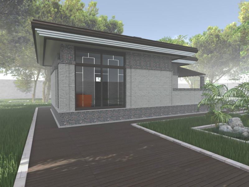 АГАТА G-035. Проект отапливаемого домика с баней, барбекю-террасой и комнатой отдыха