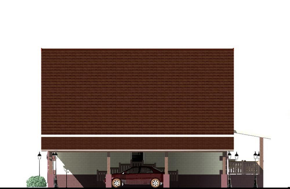 Ай-Петри C-199. Проект мансардного дома с тремя спальнями и террасой