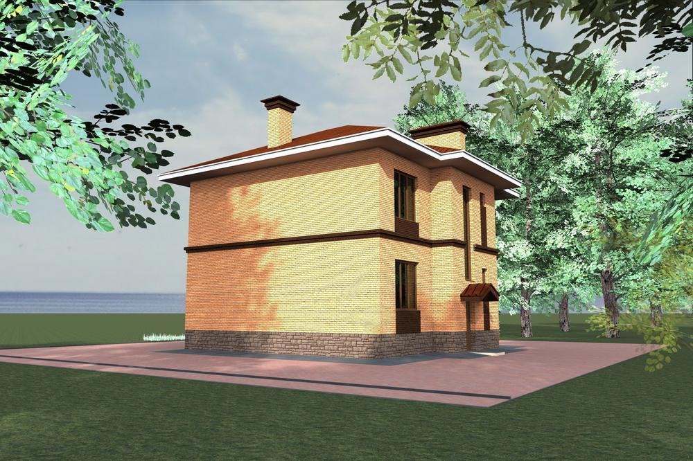 Алерис C-128. Проект двухэтажного коттеджа с тремя спальнями