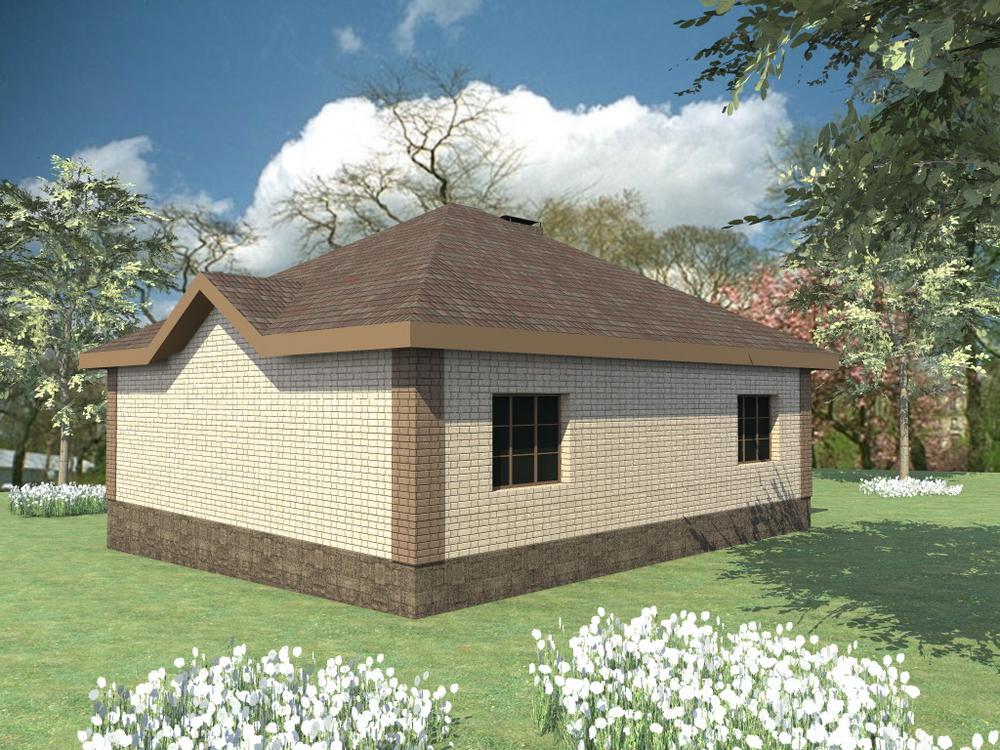 АЛТАЙ B-094. Проект простого одноэтажного дома до 150 м2, на 2 спальни