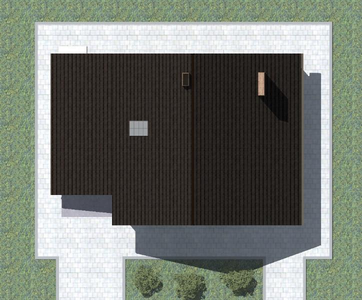 Альтер C-213. Проект мансардного дома на 4 спальни, с пристроенным гаражом