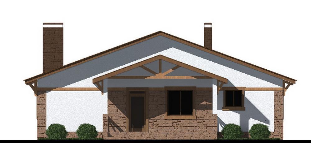 Андрес D-111. Проект одноэтажного дома с тремя спальнями, террасой и банейАндрес D-111. Проект одноэтажного дома с тремя спальнями, террасой и баней