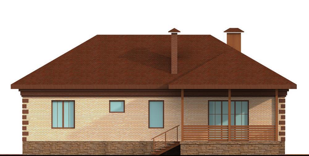 Анрэй C-124. Проект одноэтажного жилого дома на 2 спальни, с террасой