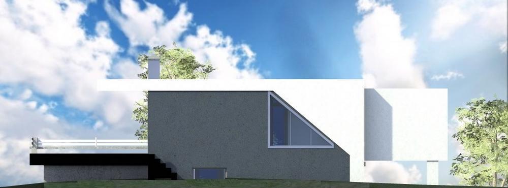 Атлант C-186. Проект двухэтажного коттеджа с плоской крышей, для нестандартного участка