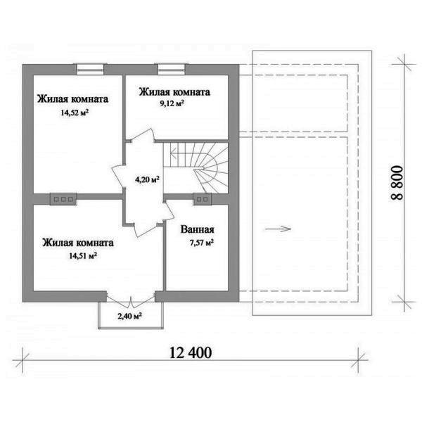 Августин B-085. Проект загородного мансардного коттеджа с гаражом