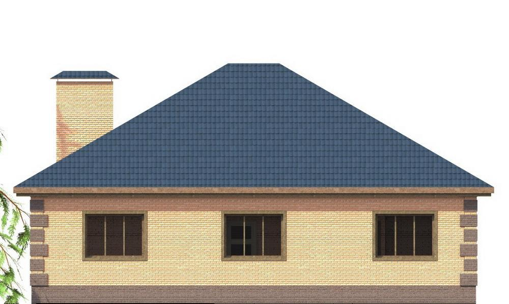 БАЛТ B-221. Проект одноэтажного дома с тремя спальнями