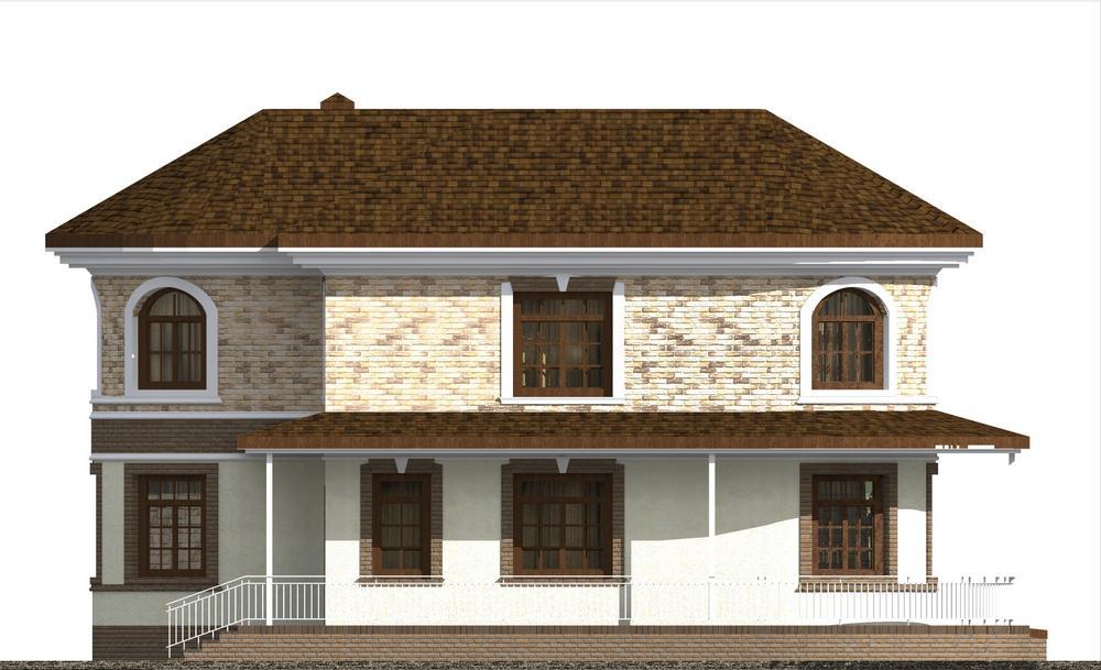 Белое крыло B-191. Проект двухэтажного дома с четырьмя спальнями и террасой