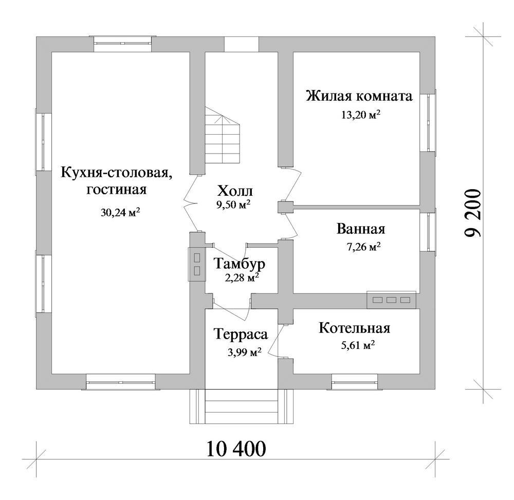 Бертран B-259. Проект дома с мансардой на 4 спальни