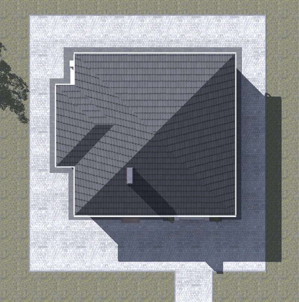 Большевик B-184. Проект одноэтажного дома на 2 спальни, с террасой
