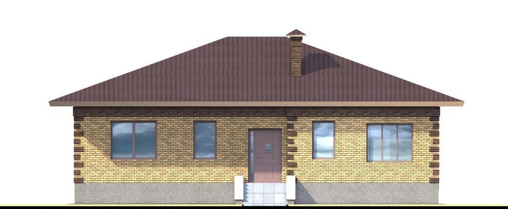 Бретт B-097. Проект одноэтажного коттеджа с тремя спальнями