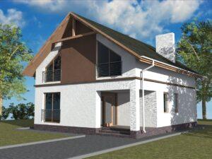 Бриг B-037. Проект дома 9 х 11 м с четырьмя спальнями и большой мансардой