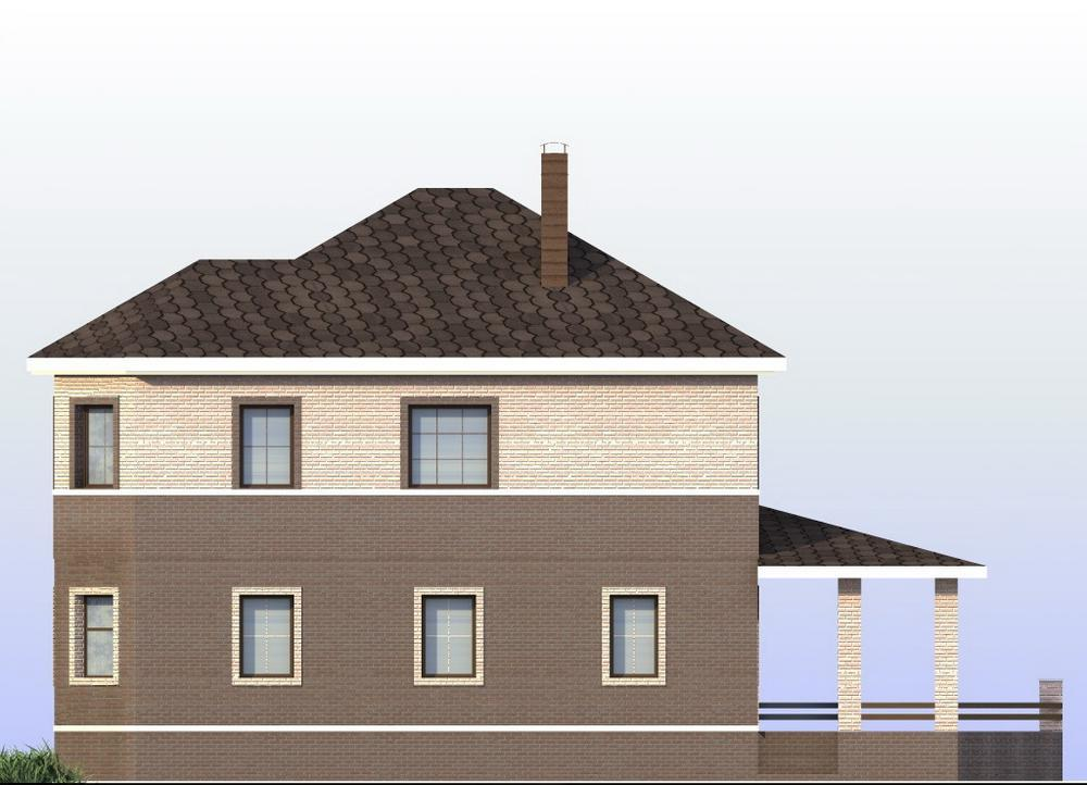 Чойс C-234. Проект двухэтажного дома с тремя спальнями, террасой
