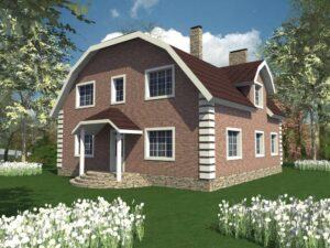 COZY D-017. Проект дома с мансардой на 8 спален