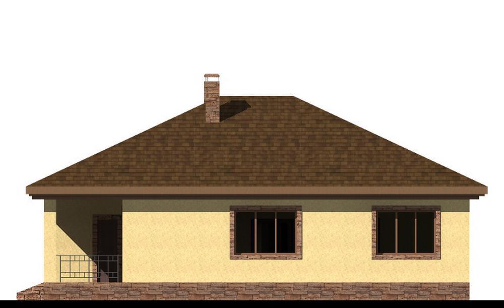 Дейнерис B-244. Проект одноэтажного дома на 2 спальни, с террасой