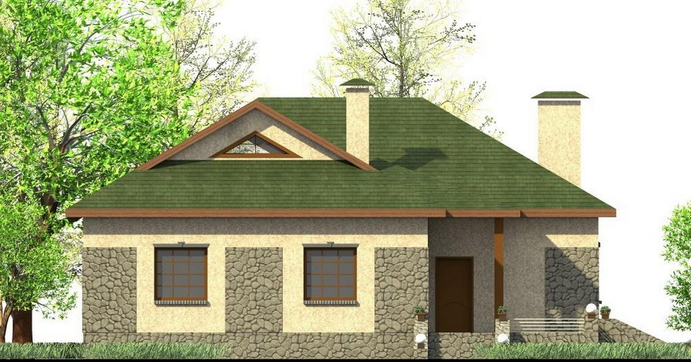 Деметриус C-200. Проект одноэтажного дома на 3 спальни, с двумя террасами