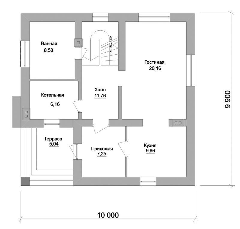 Дерби B-122. Проект мансардного коттеджа на 2 спальни