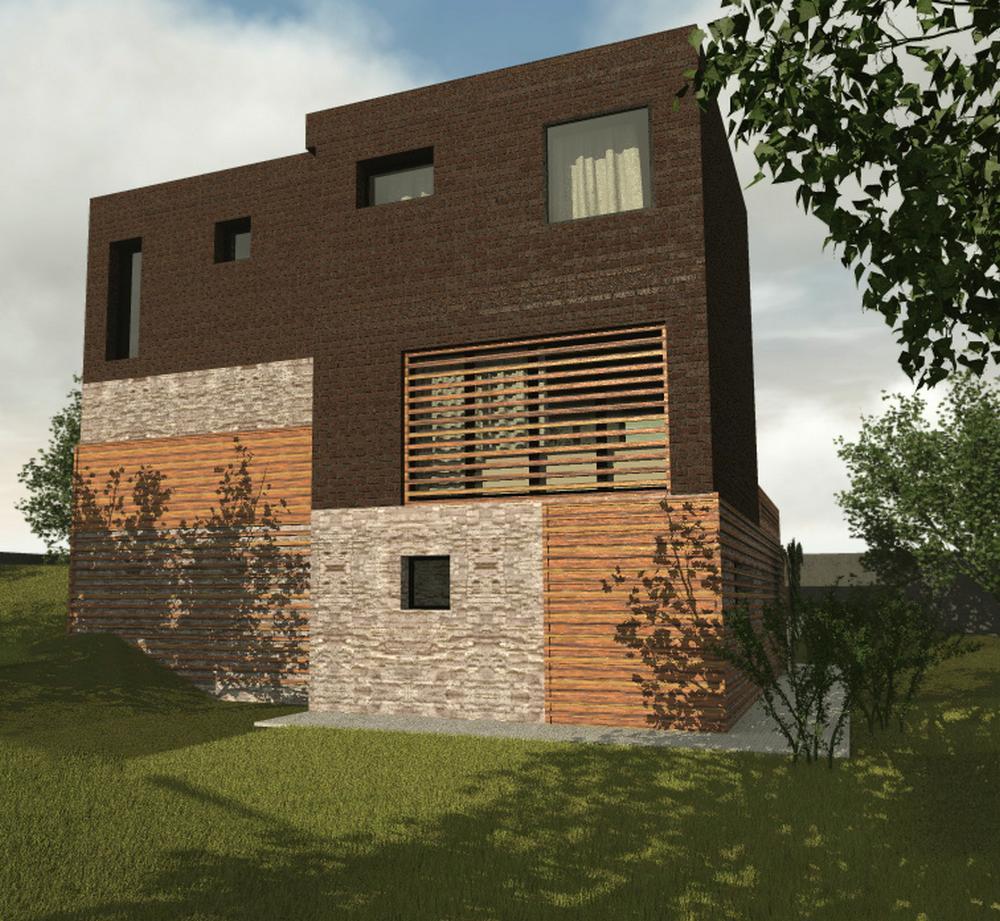 Дипломат D-082 с видеообзором. Проект двухэтажного дома с цокольным этажом, на 4 спальни