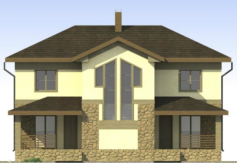 Две капли D-103. Проект двухэтажного дуплекса: 6 спален, 2 гостиные, 2 кухни, 2 веранды