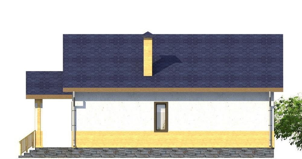Элизиум A-063. Проект одноэтажного дома на 2 спальни и гостиной