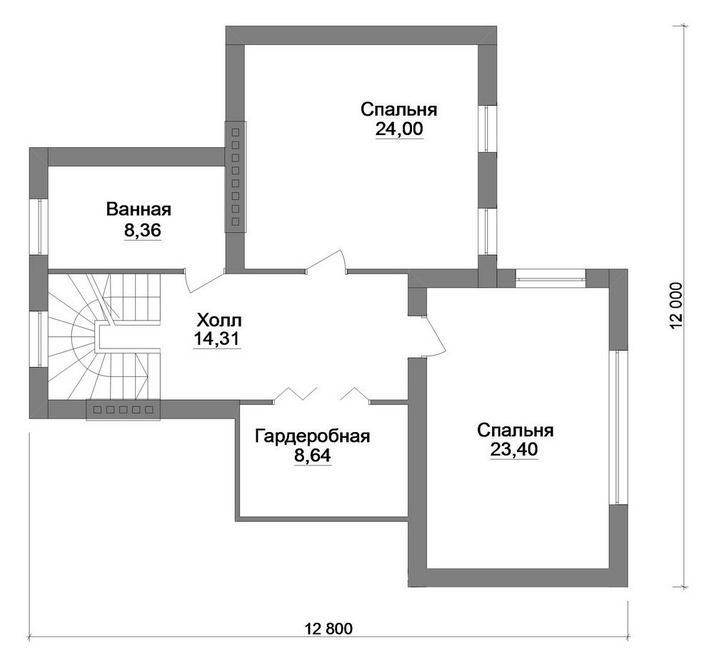 Енисей F-068. Проект дома с мансардой, террасой, баней и цокольным этажом