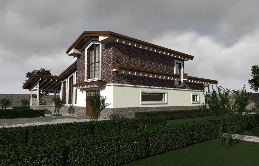 Эпоха D-091. Проект современного мансардного коттеджа, с тремя спальнями, гаражом, террасой