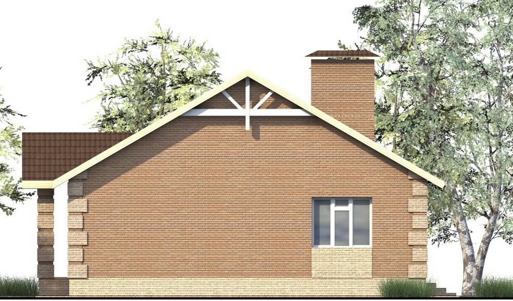 Эрлин B-200. Проект одноэтажного дома на 2 спальни, с террасой
