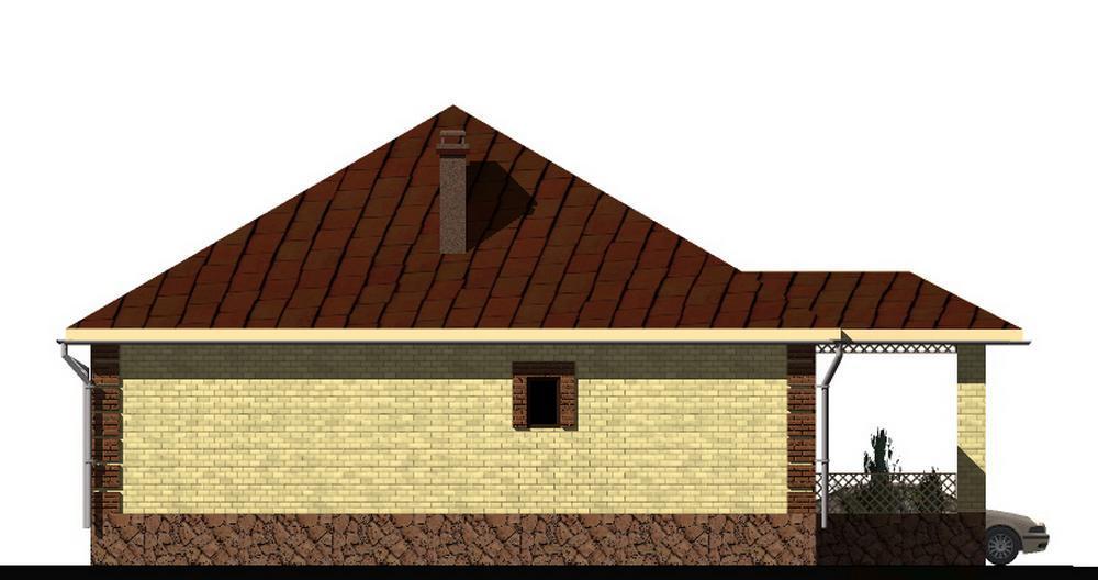 Эсманур C-158. Проект одноэтажного дома на 3 спальни, с пристроенным гаражом