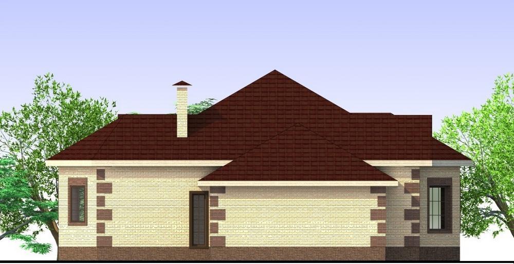 Фактор B-177. Проект одноэтажного дома на 2 спальни, с пристроенным гаражом