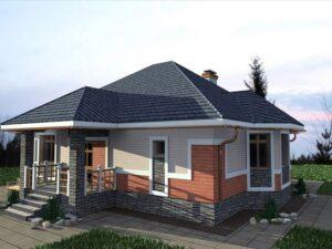 Fari A-045. Проект одноэтажного коттеджа с тремя спальнями