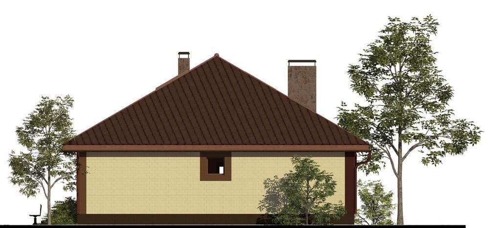ФАРТ C-173. Проект одноэтажного дома с бильярдной на мансарде, на 3 спальнями