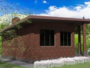 Фиджи G-061. Проект летнего домика, комната отдыха, беседка