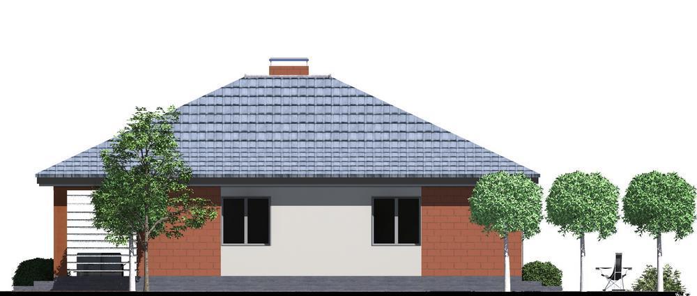 Флойд B-169. Проект одноэтажного дома с двумя спальнями, гардеробными и террасой