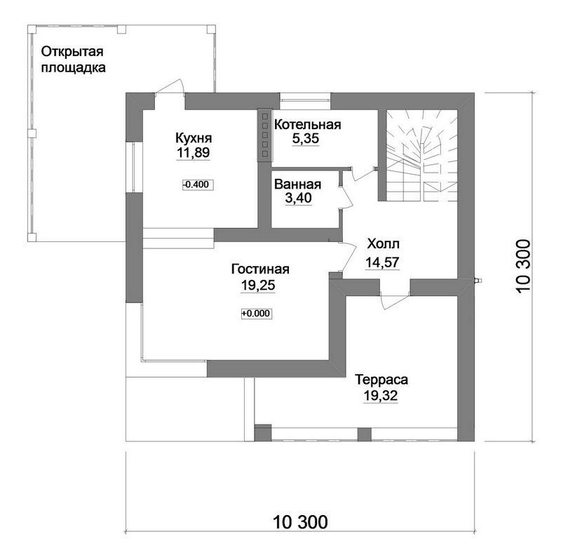 Фолиант B-175. Проект современного двухэтажного дома на 2 спальни, с двумя террасами