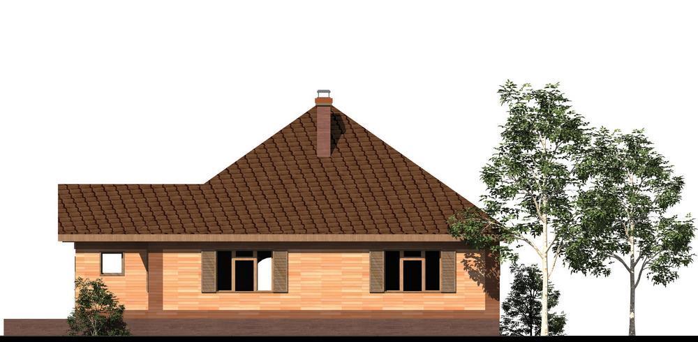 Фон B-160. Проект простого одноэтажного дома на 2 спальни