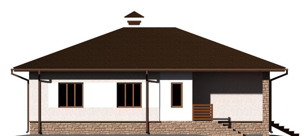 Формуляр B-114. Проект одноэтажного дома на 3 спальни, с небольшой террасой