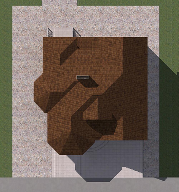 Франк B-237 с видеообзором. Проект одноэтажного цокольного дома на 2 спальни, с террасой