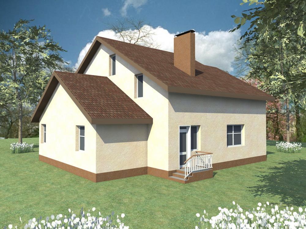 Галла C-093. Проект мансардного дома на 4 спальни, с террасой