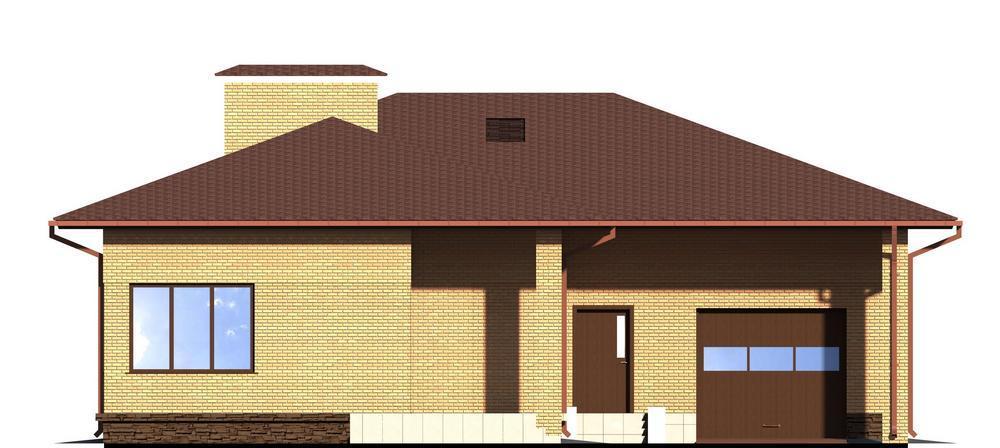 Гардэн C-112. Проект одноэтажного дома на три спальни, с террасой и гаражом