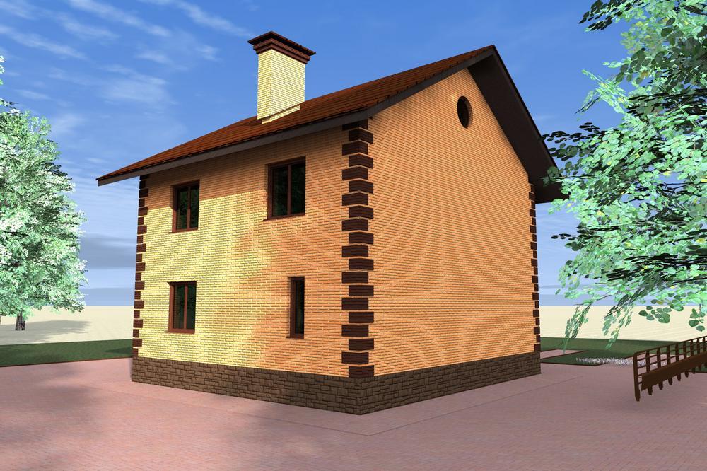 Гаспар B-117. Проект двухэтажного дома на 4 спальни с простой планировкой