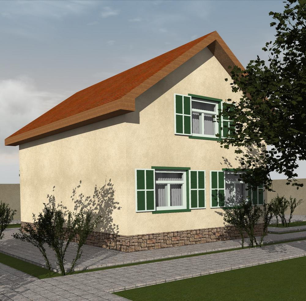 Гелдер B-207. Проект дома с мансардой, на 3 спальни