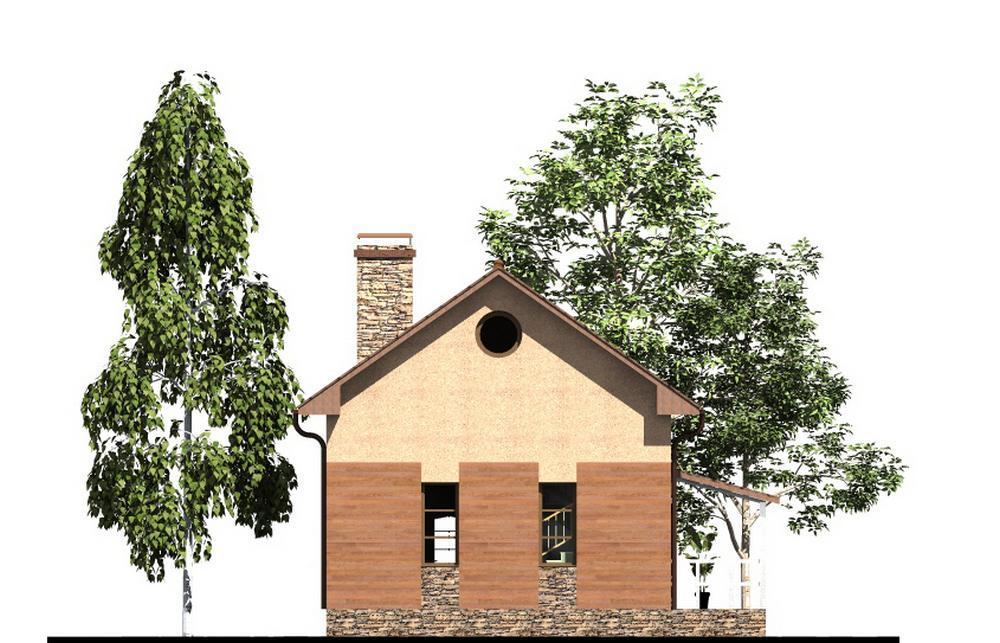 Гениус A-054. Проект небольшого мансардного дома с зимним садом, на 2 спальни