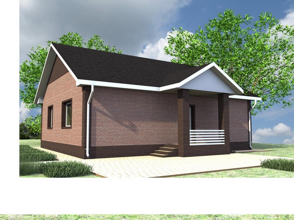 ГЛОРИЯ A-066. Проект одноэтажного дома на 3 спальни, с хорошей планировкой